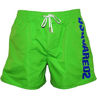 DSquared2 Side Logo Swim Shorts, Green/blue
