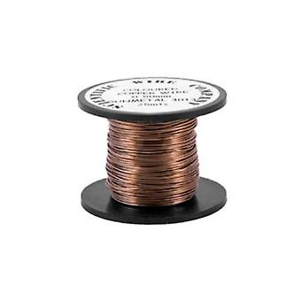 1 x Taupe Plated Copper 0.5mm x 15m Round Craft Wire Coil W5013