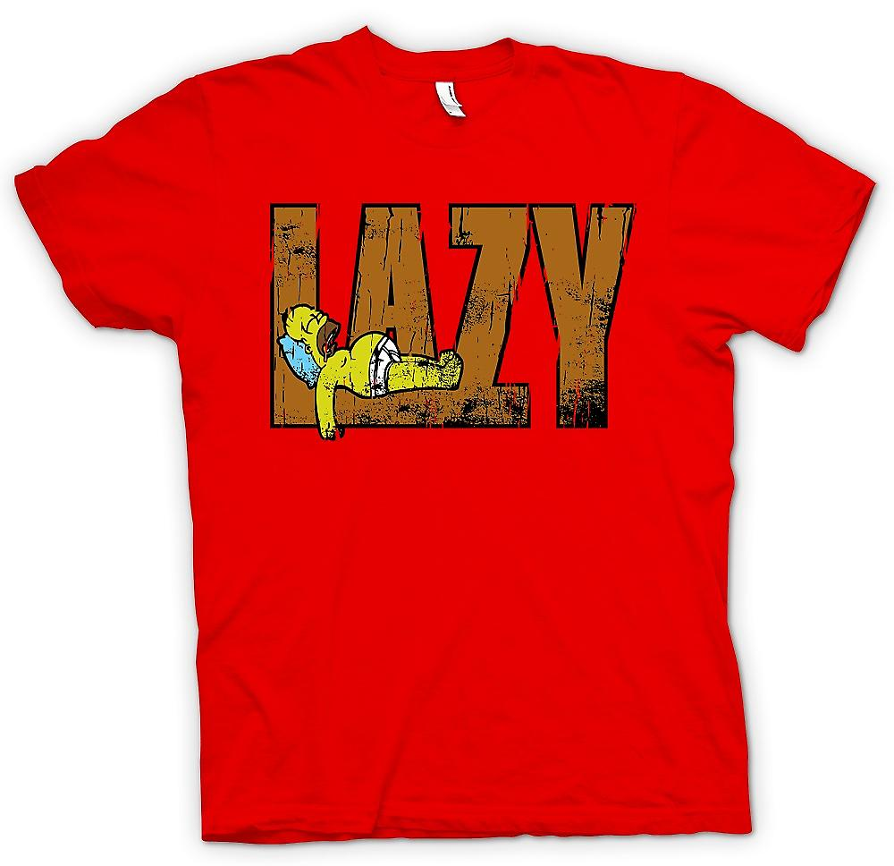Mens T-shirt - Homer - Lazy - Simpsons Inspired