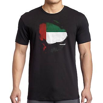 دولة الإمارات العربية المتحدة وقع تأثير تحت قميص تي شيرت
