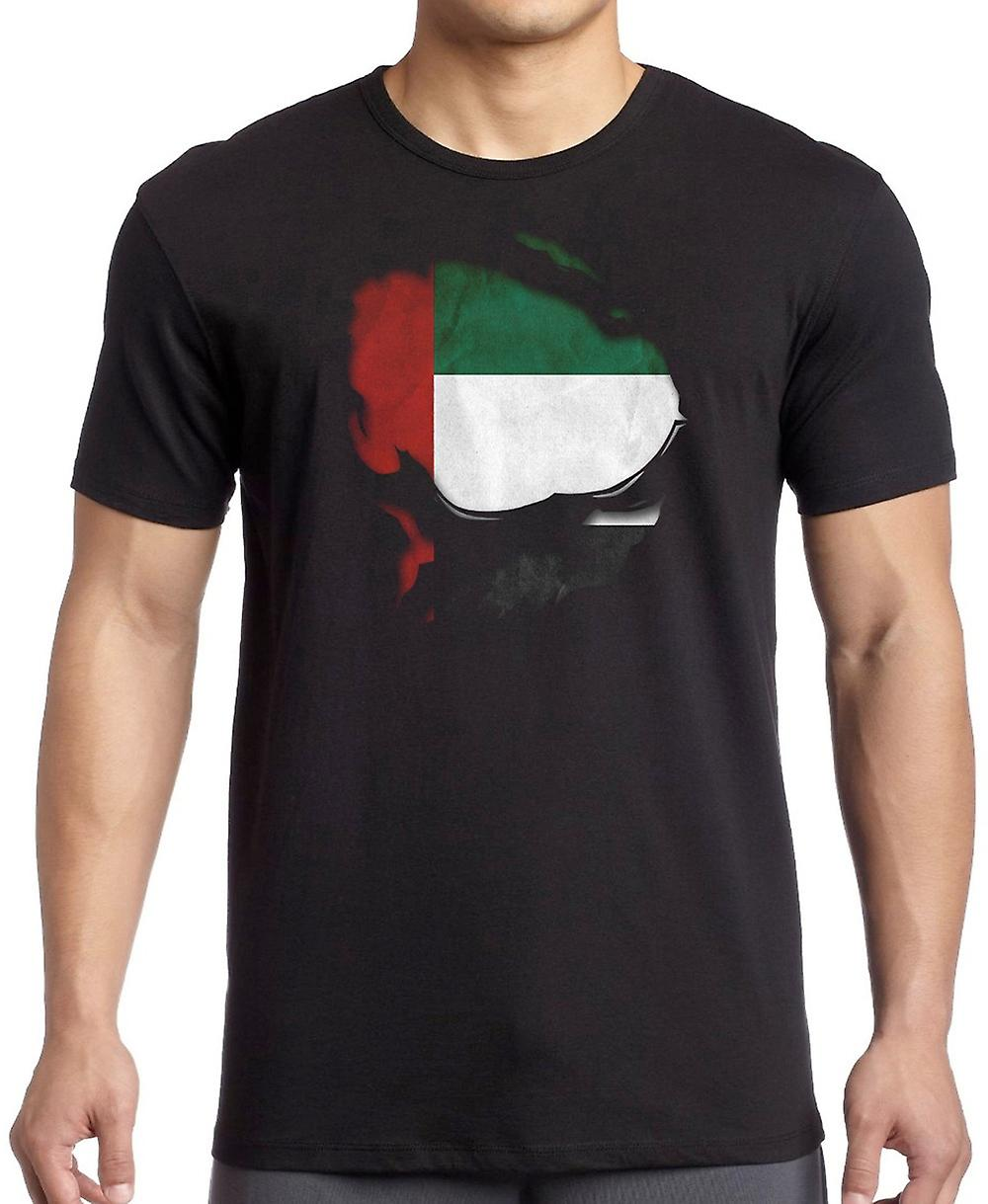 United Arab Emirates Ripped Effect Under Shirt T Shirt