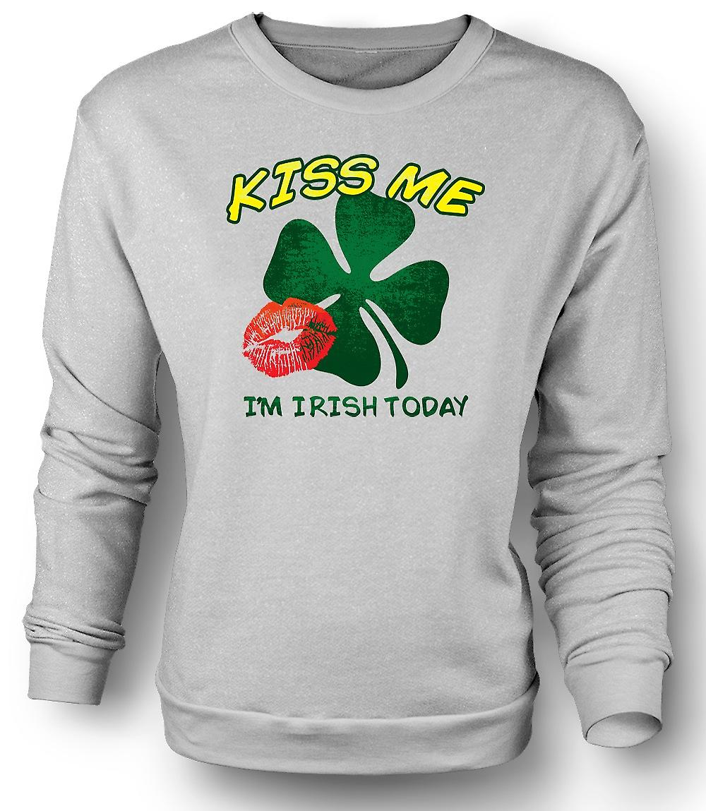 Mens Sweatshirt St Patricks Day - Kiss Me I'm Irish Today
