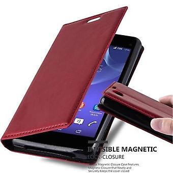 Cadorabo Case for Sony Xperia Z1 COMPACT Case Cover - Phone Case with Magnetic Closure, Stand Function and Card Case Compartment - Case Cover Case Case Case Case Book Folding Style