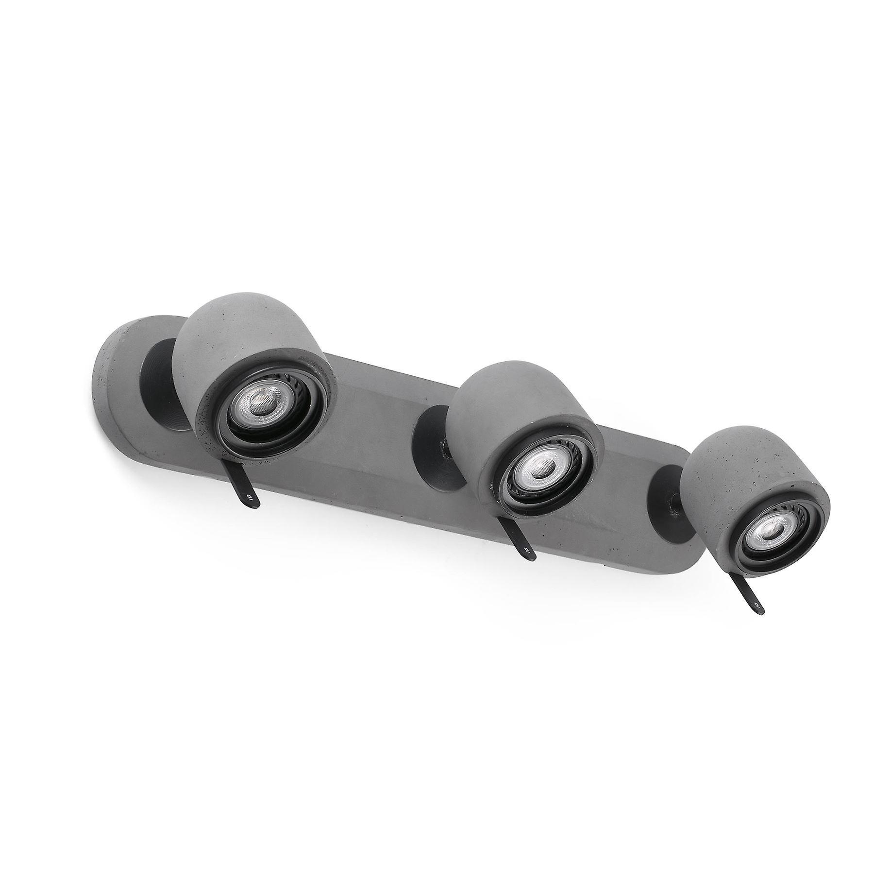 Faro - Stone gris Triple Adjustable Wall Spotlight FARO43502
