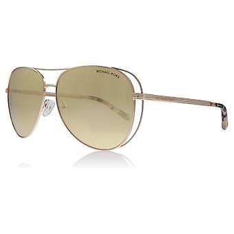 Michael Kors MK1024 11757J Rose Gold Lai Piloten Sonnenbrille Objektiv Kategorie 3 Objektiv gespiegelt Größe 58mm
