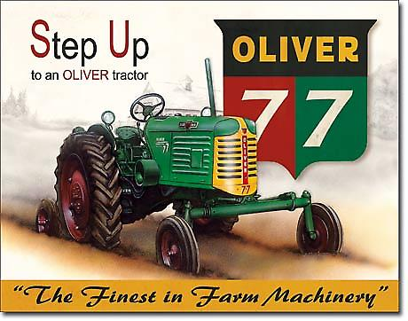 Oliver 77 Step Up Tractor metal Sign  (de)