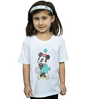 Disney Girls Minnie Mouse Shamrock Hat T-Shirt