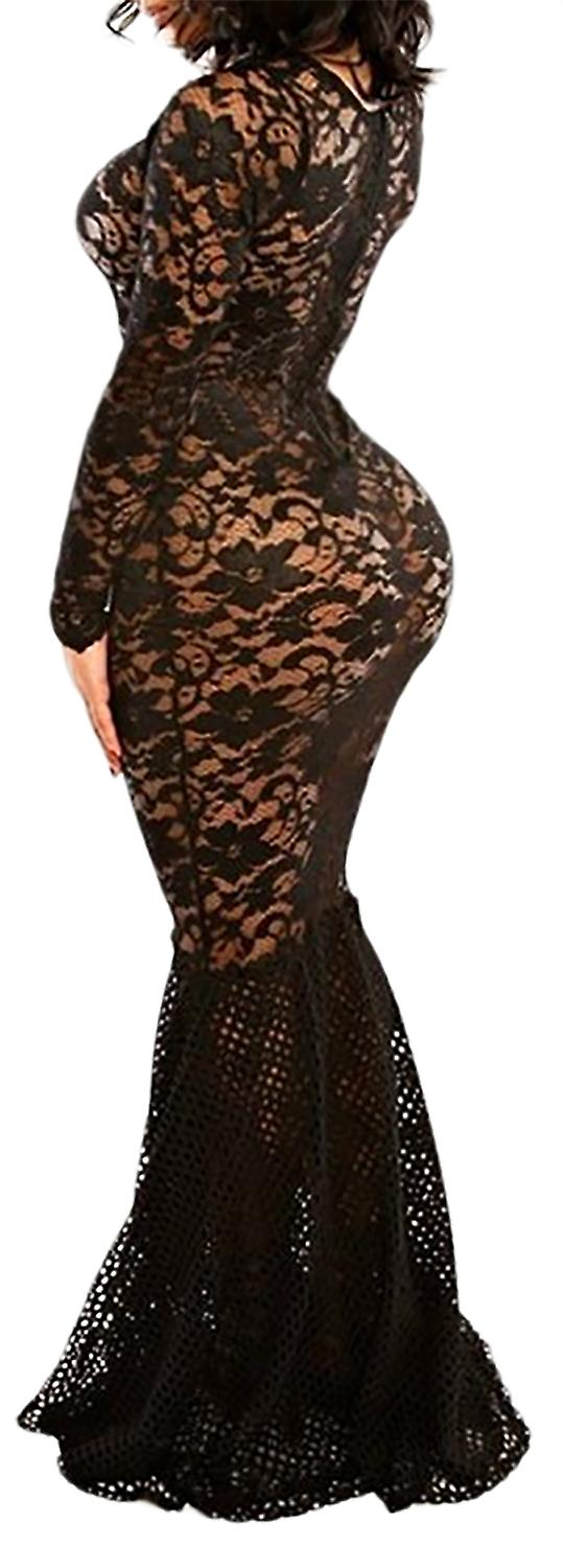 Waooh69 - Long dress sheer lace Both