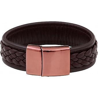 Bracelet Clio Blue BR2163S-BROWN - Brown Rose steel leather man Bracelet