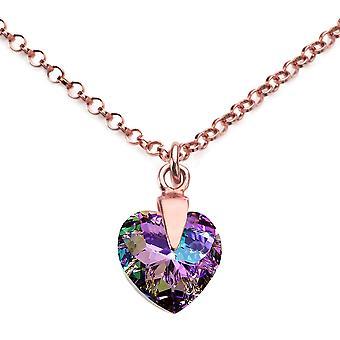 Ah hjärta smycken Vitrail ljus kristall från Swarovski