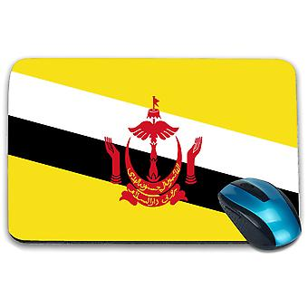 i-Tronixs - Brunei Flag Printed Design Non-Slip Rectangular Mouse Mat for Office / Home / Gaming - 0025