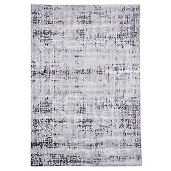 Modern carpet weaving carpet short flor indoor abstract grey 80 x 150 cm stain protection cotton mixture