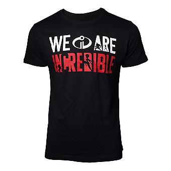 Incredibles 2 The T-Shirt We are Incredible Mens Black Large (TS077214INC-L)