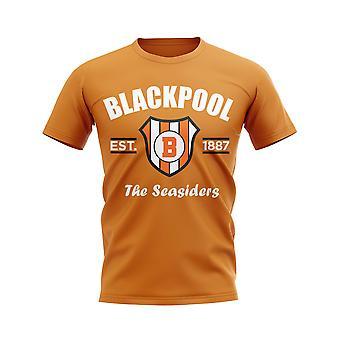 Blackpool Established Football T-Shirt (Orange)