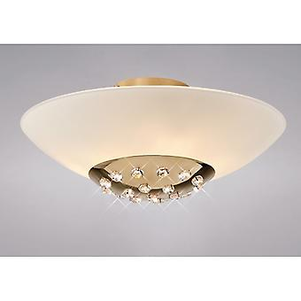 Amada Ceiling 6 Light French Gold/frosted Glass
