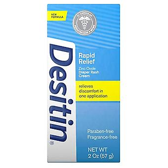 Desitin rapid relief creamy diaper rash ointment, 2 oz
