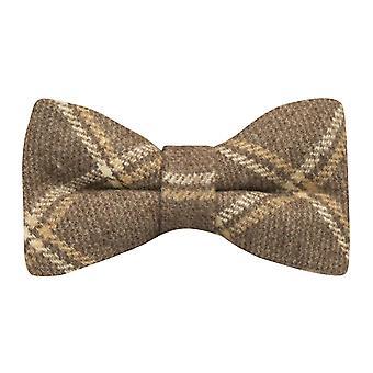 Heritage Pecan Brown Check Bow Tie