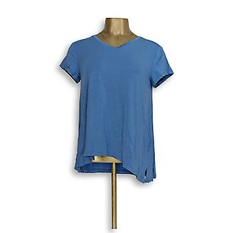 H di Halston Women's Top Essentials V-Neck Forward Blue A306231