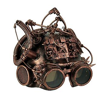 Masque casque Google métallique cuivre Steampunk Spike