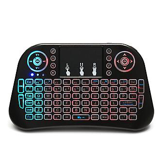 Mini i10 2.4g wireless colorful marquee backlit mini keyboard air mouse touchpad