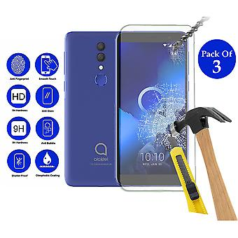 Pack of 3 Tempered Glass Screen Protection For Alcatel 1X 2019 5.5