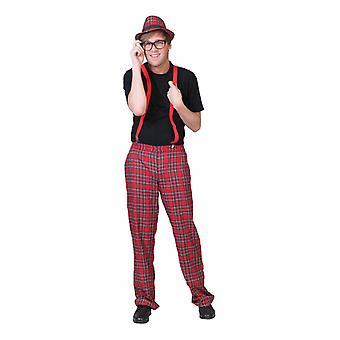 Checkered Scots Pants Men's Costume Schoolboy Nerd Men's Costume