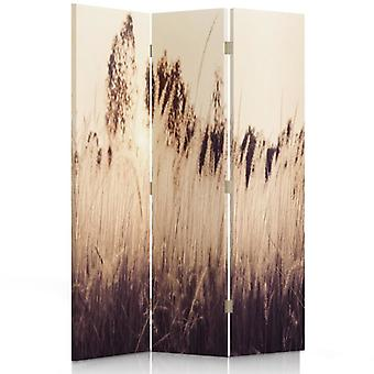 Room Divider, 3 Panels, Single-Sided, Canvas, High Grass