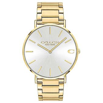 Coach | Mens | Charles | Gold PVD Bracelet | Silver Dial | 14602430 Watch