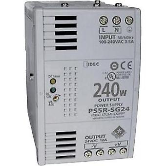 Rail mounted PSU (DIN) Idec PS5R-SG24 24 Vdc 10 A 240 W 1 x