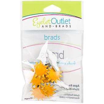 Eyelet Outlet Shape Brads 12/Pkg-Sun/Cloud QBRD2-28
