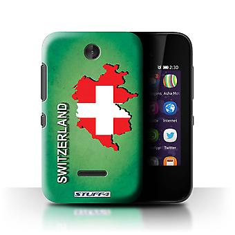 STUFF4 Case/Cover für Nokia Asha 230/Schweiz/Swiss/Flagge Nations