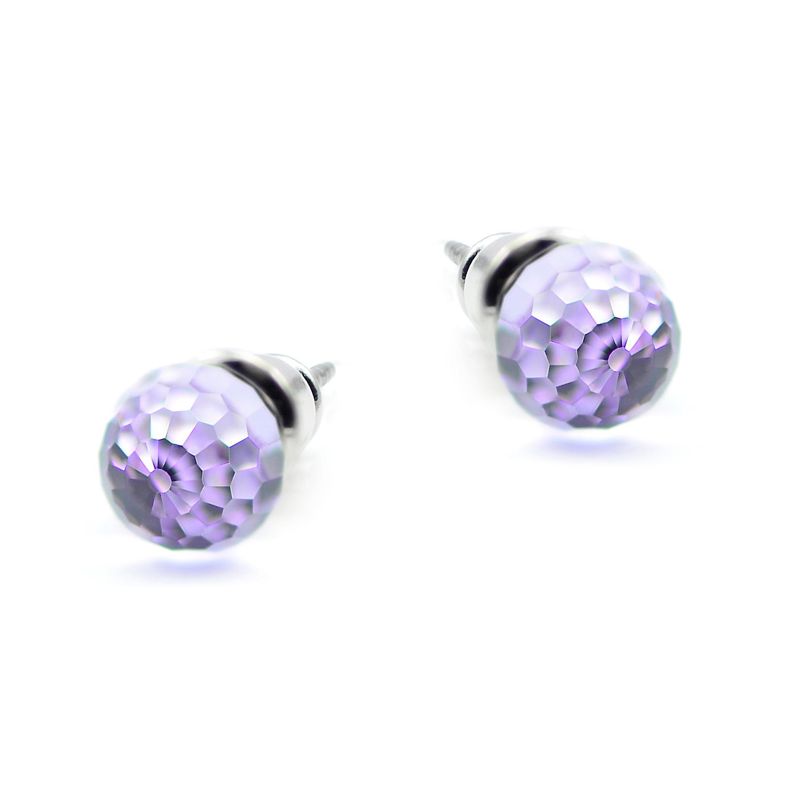 Violet crystal earrings EMB12.3