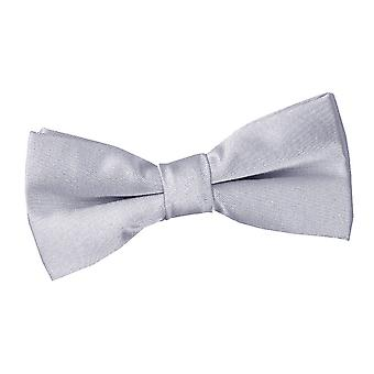 Boy's Plain Silver Satin Bow Tie