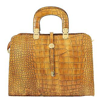 CTM ladies handbag in crocodile-embossed leather made in italy
