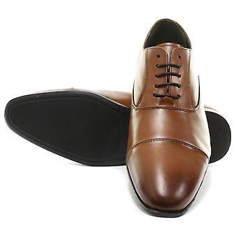Frank James Shark Tan Mens Lace Up Oxford schoenen