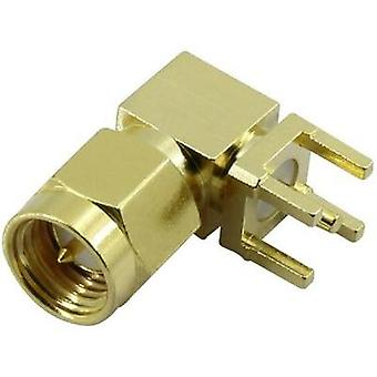 SMA connector Plug, horizontal mount 50 Ω Conrad Components SMA-KWE 1 pc(s)