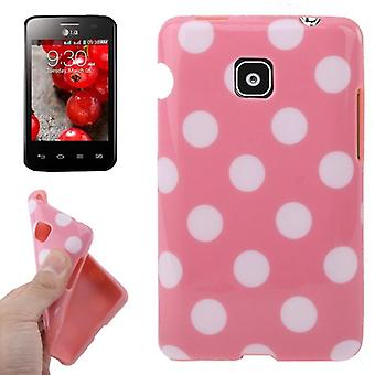 Protective case TPU points of case for mobile LG Optimus L3 II / E430 pink