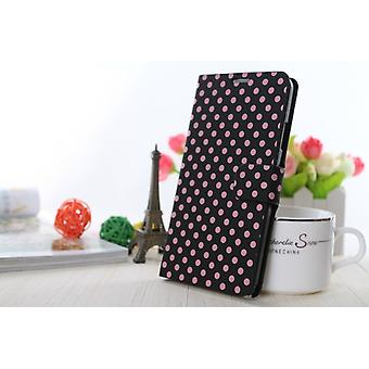 Sleeve case (flip cross) for mobile Apple iPhone 6 plus black / pink