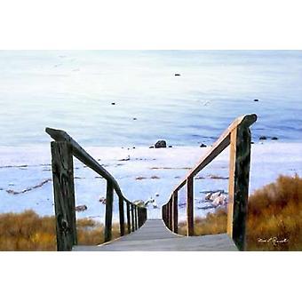 Sound Beach Poster Print by  Diane Romanello