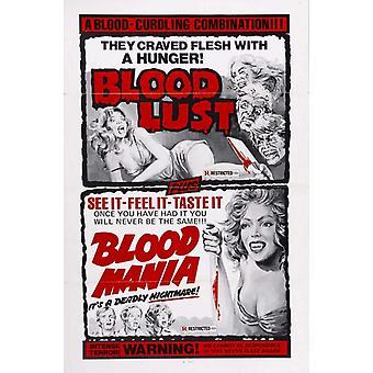 Mania de sangue filme Poster Print (27 x 40)