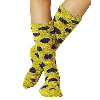 Purbeck women's fluffy dress sock in lichen | Recycled polyster by Braintree