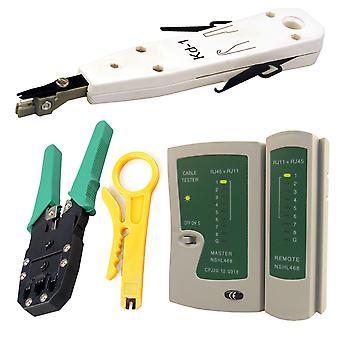 Kabalo Network LAN Kit: RJ45 Cat5e RJ11 PC Cable Tester Crimping Crimper Punch Tool Set