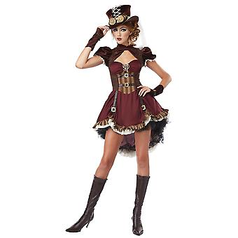 Steampunk flicka Western 19th viktorianska gotiska Science Fiction Womens kostym