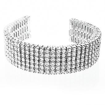 Iced Out Bling Premium Armband - EXOTIC 6 ROW CLEAR