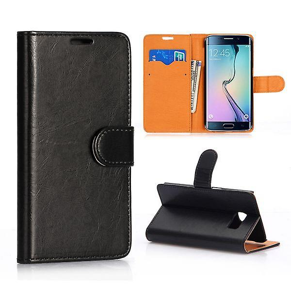 Wallet Deluxe case black for Samsung Galaxy S6 edge G925 G925F