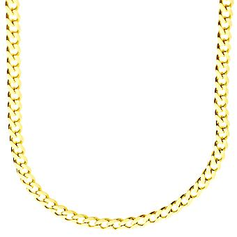 Sterling 925 Silver curb chain - CURB 4, 4 mm gold