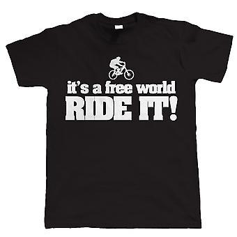 Free World VTT, Mens cyclisme Tshirt