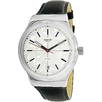 Swatch SISTEM PUZZLE Leather Mens Watch YIS408
