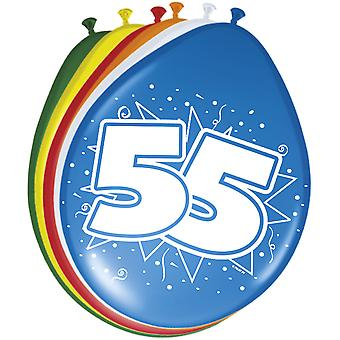 Colorful balloons balloon number 55 birthday 8 St. decoration balloons party