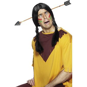 Arrow through head Indian costume Hat head arrow